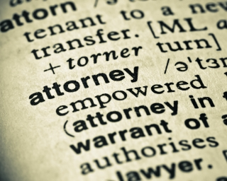 dictionary definition for Attorney