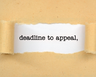 text stating deadline to appeal