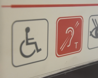 Sign displaying different forms of accessibility